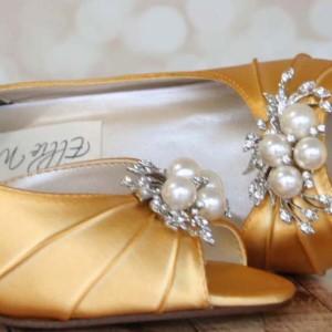 Custom Wedding Shoes Color Palette Mango