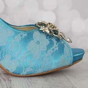 Custom Wedding Shoes Color Palette Mermaid
