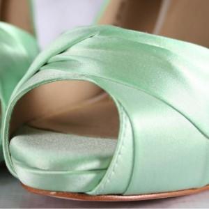 Custom Wedding Shoes Color Palette Mint