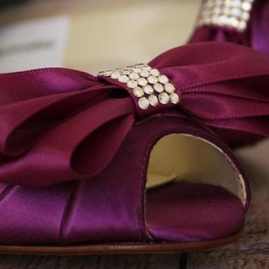 Custom Wedding Shoes Color Palette Mulberry