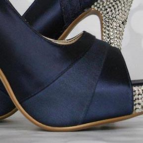 Custom Wedding Shoes Color Palette Navy Blue