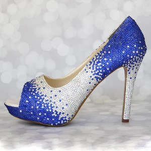 Ombre Crystal Wedding Shoe Custom Wedding Shoes