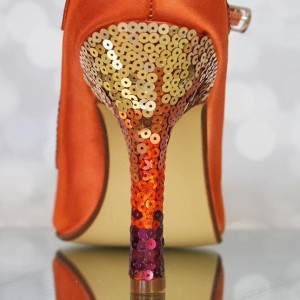 Ombre Sequin Heel Custom Wedding Shoes