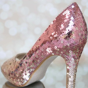 Ombre Sequin Shoe 1 Custom Wedding Shoes