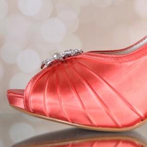 Custom Wedding Shoes Color Palette Orange Coral