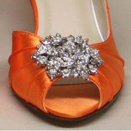 Custom Wedding Shoes Color Palette Orange