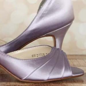 Custom Wedding Shoes Color Palette Orchid
