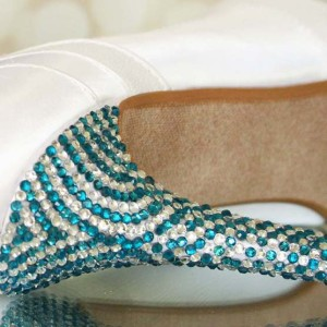 Patterned Crystal Covered Heel Custom Wedding Shoes