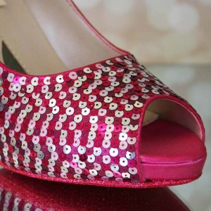 Patterned Sequin Custom Wedding Shoes
