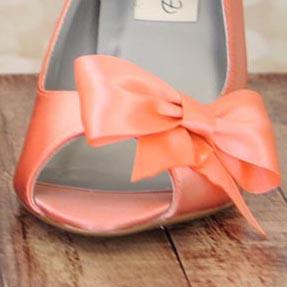 Custom Wedding Shoes Color Palette Peach