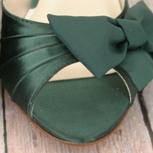 Custom Wedding Shoes Color Palette Pine