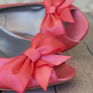 Custom Wedding Shoes Color Palette Pink Coral