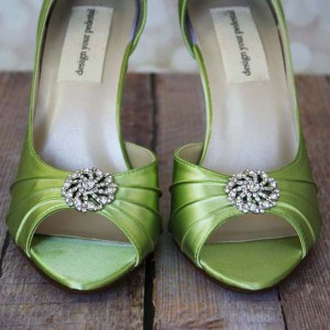 Pinwheel Adornment Custom Wedding Shoes