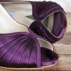 Custom Wedding Shoes Color Palette Plum