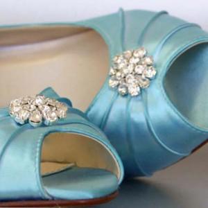 Custom Wedding Shoes Color Palette Pool