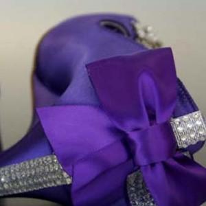 Custom Wedding Shoes Color Palette Purple