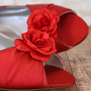 Custom Wedding Shoes Color Palette Red