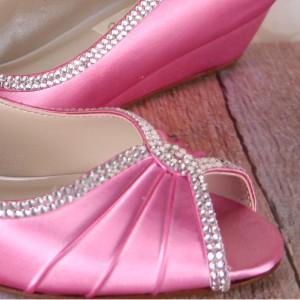 Custom Wedding Shoes Color Palette Rose Petal Pink