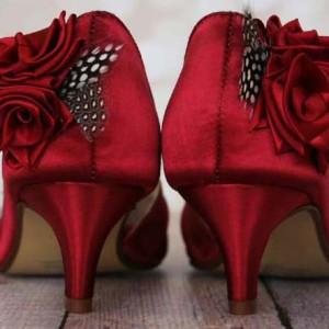 Custom Wedding Shoes Color Palette Rouge