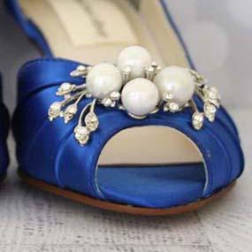 Custom Wedding Shoes Color Palette Royal Blue