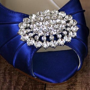 Custom Wedding Shoes Color Palette Sapphire
