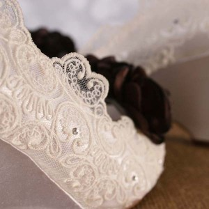 Scalloped Lace Overlay 1 Custom Wedding Shoes