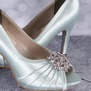 Custom Wedding Shoes Color Palette Seafoam