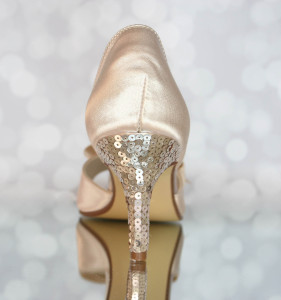 Sequin Heel Custom Wedding Shoes