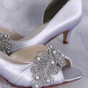 Custom Wedding Shoes Color Palette Silver