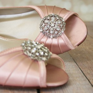 Silver Vintage Adornment Custom Wedding Shoes