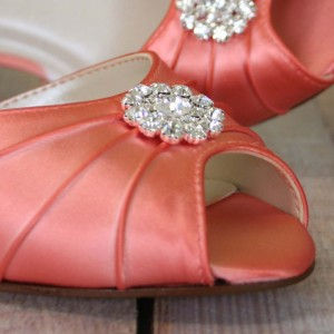 Simple Rhinestone Adornment 1 Custom Wedding Shoes