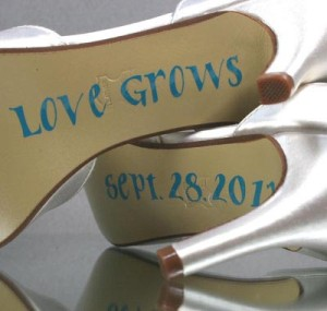 Special Saying Save the Date Custom Wedding Shoes
