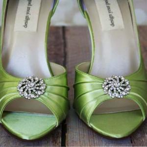 Custom Wedding Shoes Color Palette Spring Green