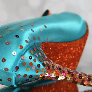 Custom Wedding Shoes Color Palette Tornado Blue