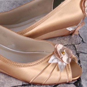 Custom Wedding Shoes Color Palette Victorian Gold