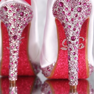 Crystal Covered Heel (Packed, Multi Size, Multi Color)