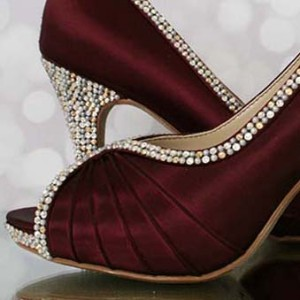 Custom Wedding Shoes Color Palette Wine