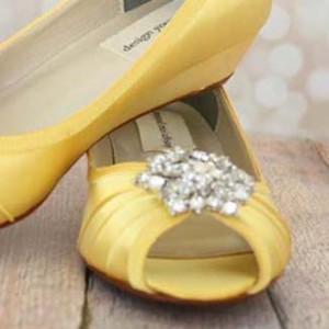 Custom Wedding Shoes Color Palette Yellow