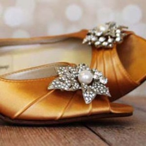 Custom Wedding Shoes Color Palette Yellow Gold
