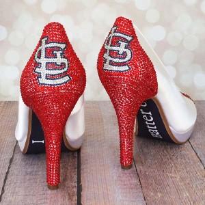 Custom Wedding Shoes: St. Louis Cardinal Baseball Wedding Shoes