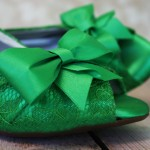 Green Kitten Heel Peeptoe Custom Wedding Shoes Green Lace Overlay Green Bow Green Buttons Kristen 2