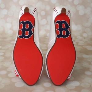 Boston Red Sox Baseball Wedding Shoes 1