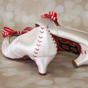 Boston Red Sox Baseball Wedding Shoes 3