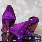 Mulberry Special Order Custom Wedding Shoes Multi Colored Sequins Pink Glittered Sole 2