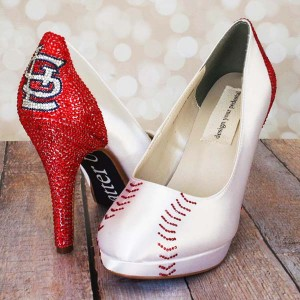 Baseball Shoes St. Cardinals Custom Wedding Shoes 4