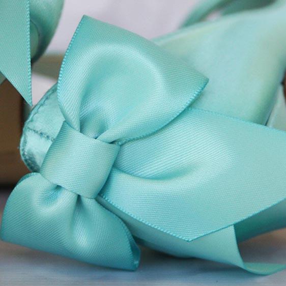 Aqua Blue Wedding Shoes Aqua Blue Bow on Heel Custom Wedding Shoes ...