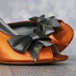Burnt Orange Wedding Shoes Charcoal Gray Bow Charcoal Gray Buttons Custom Wedding Fall Wedding