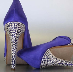 CGS#5: Crystal Covered Heel (Multi Sized Crystals; colors can be done to specification)
