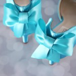 Blue Wedding Shoes Matching Bow Custom Wedding Shoes Ellie Wren