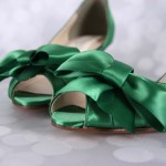 Green Wedding Shoes Matching Green Bow Custom Wedding Accessories Design Your Own Wedding Shoes